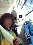 Sans and Chara Cosplay by SuperBecky