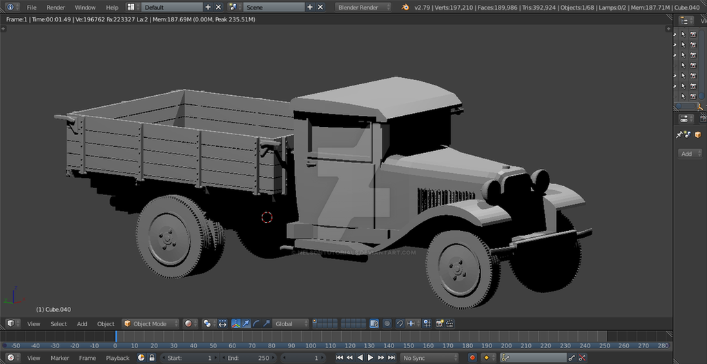 Gaz MM Truck - Blender Creation by NelsonTutorials on DeviantArt