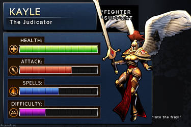 LoL Stat Card - Kayle by apieceofbread