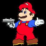 Mario with a Gun
