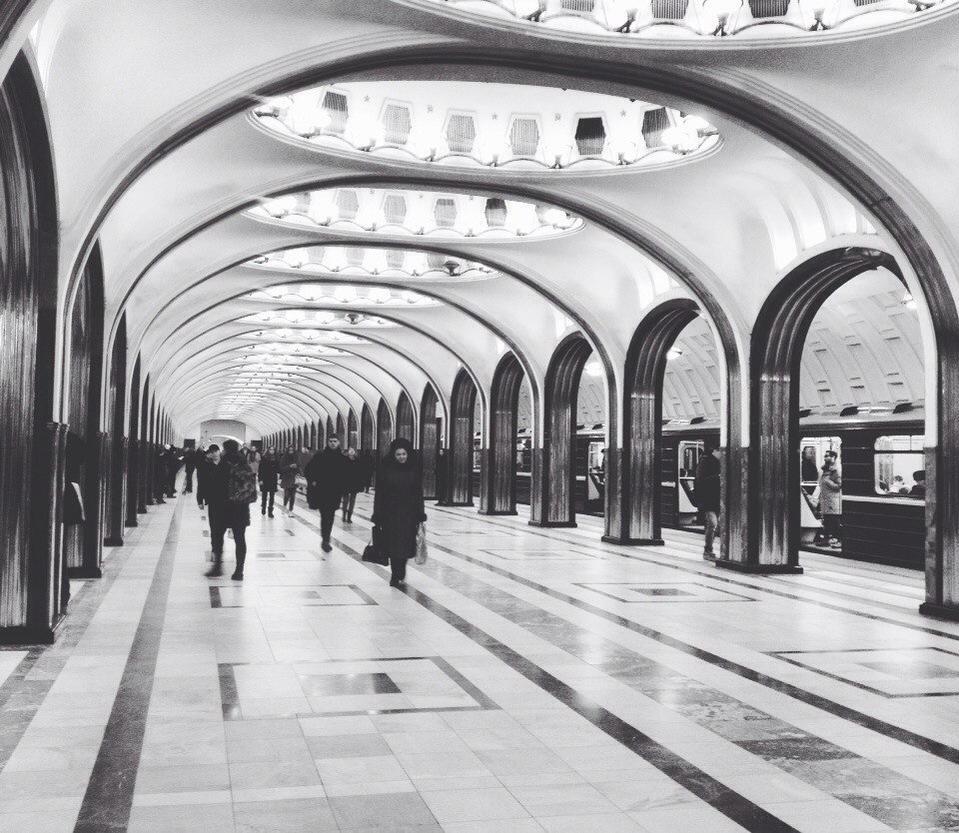 Mayakovskaya metro station by L-X-X-I