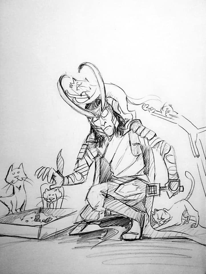 Loki and cats II by neron1987