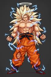Angel Goku Super Saiyan 3 by kenji893