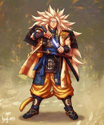 Samurai Super Saiyan 3 Goku