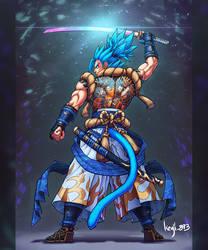 Samurai Gogeta Blue