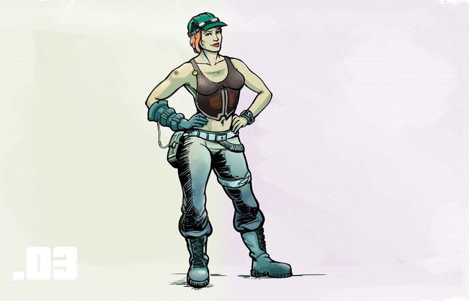 Characters factory - mechanic by szarak