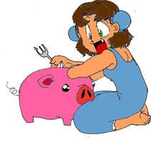 Haru and piggy