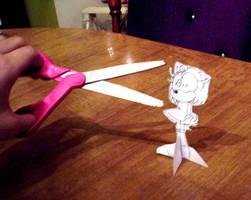 Amy meets Mr. Scissors