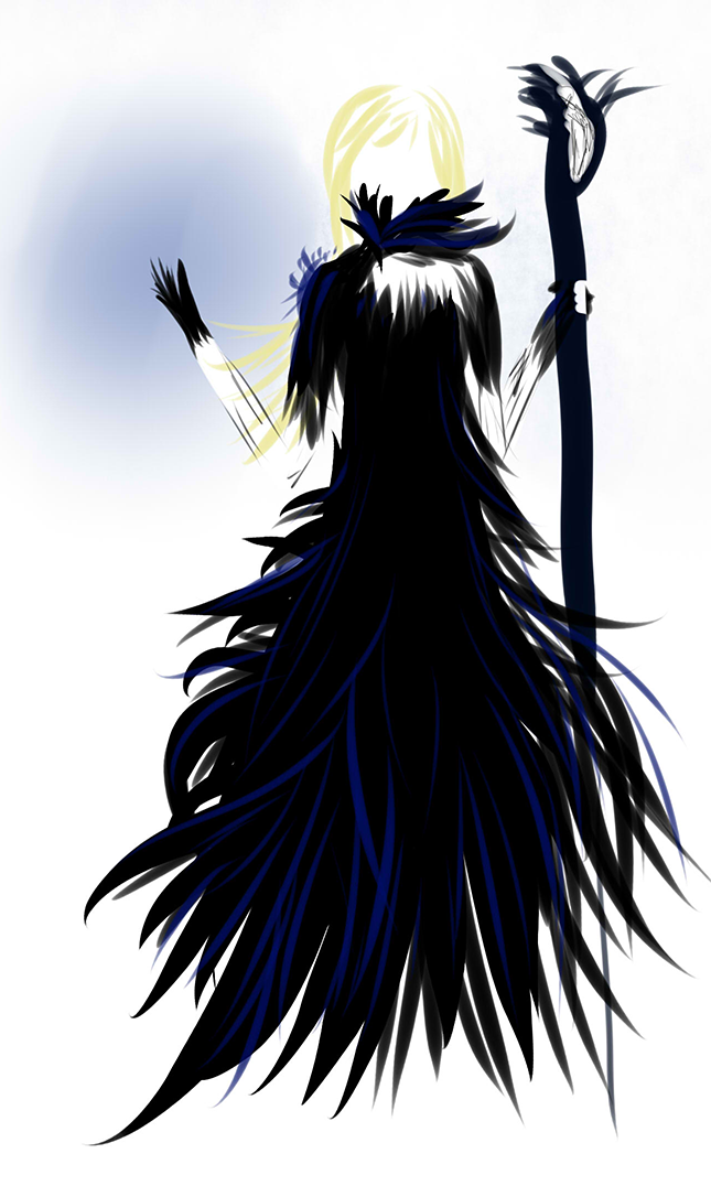 Black witch by OrionLine