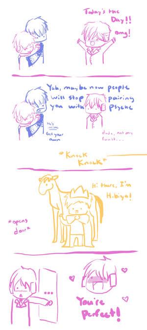 Hibiya arrives xD
