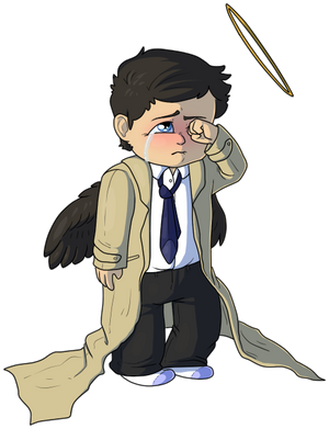 Sad lil Cas by Jennilah