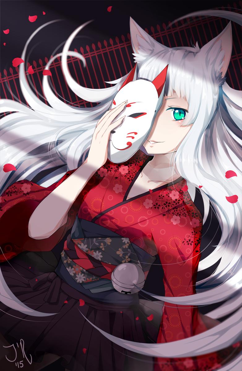 Kitsune Mask by jollyrose on DeviantArt
