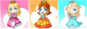 Chibi Princess Trio by jollyrose