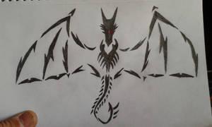 Tribal Dragon Tattoo Drawing