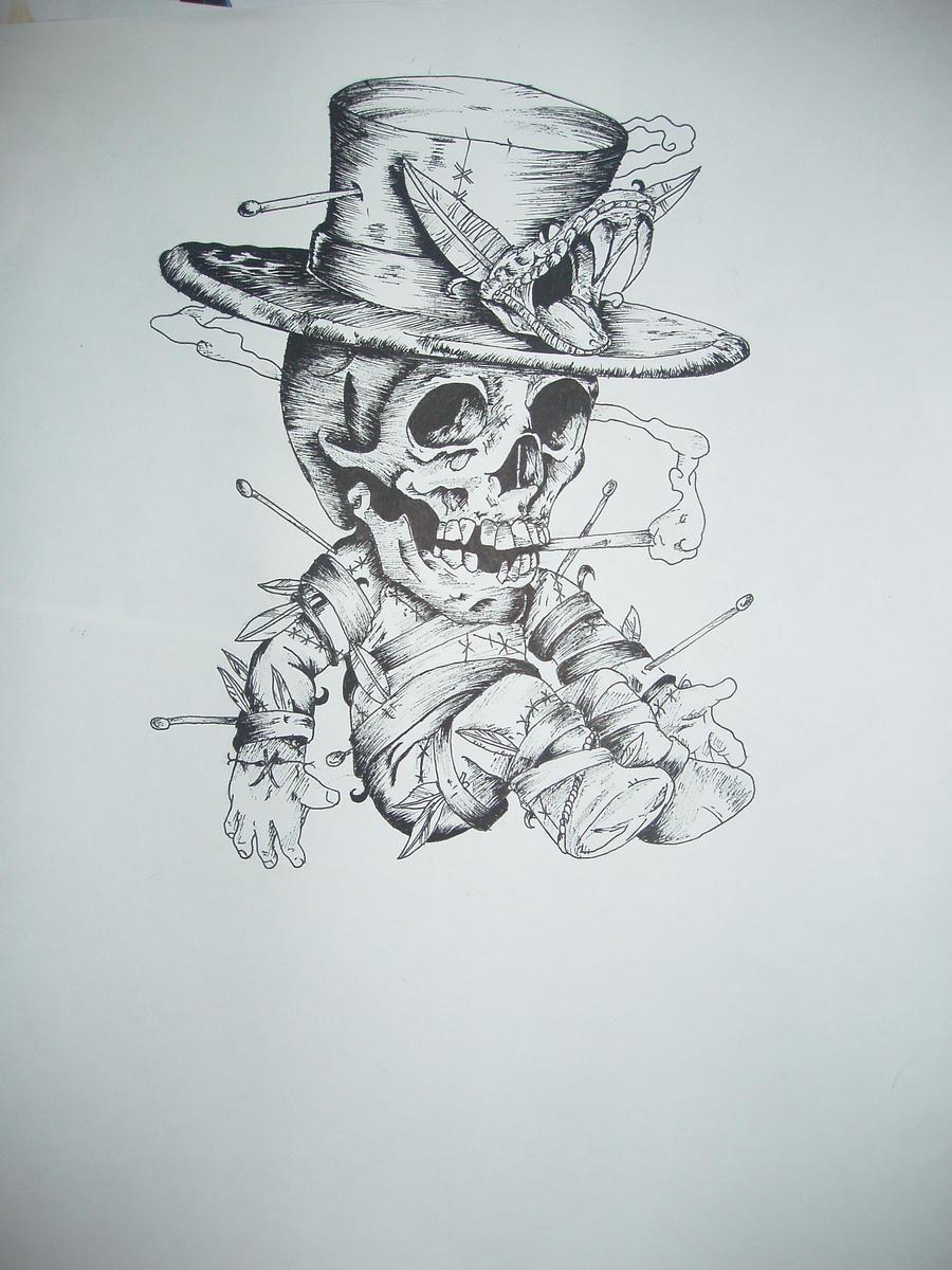 Voodoo doll skull for art  by SkippyJunoVoodoo Skull Drawing
