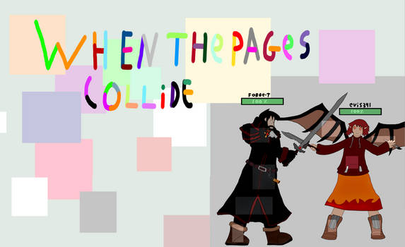 When the pages collide