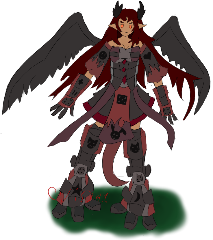 MistenVale - Creatures - Automaton: Scarlet Taurus by Evis341