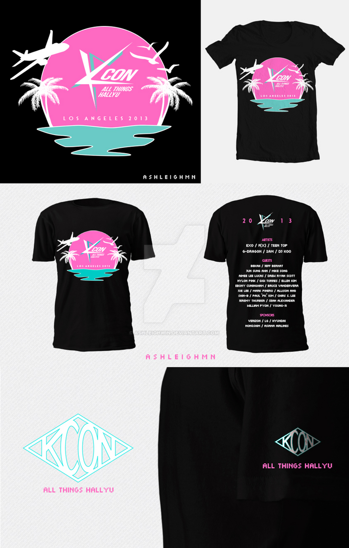 Kcon 2013 Limited Edition T Shirt Design Contest By Ashleighwin On