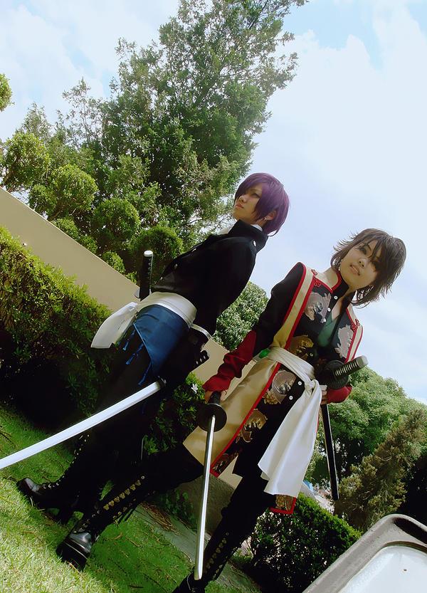 Saitou and Okita by ShiroiGarazu