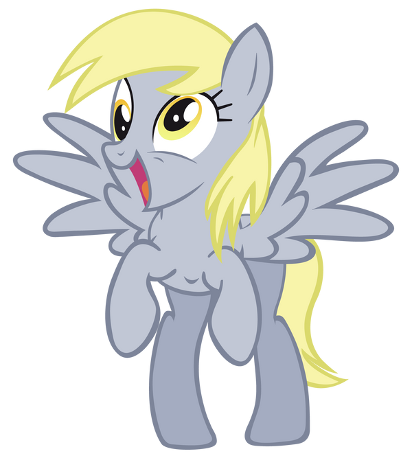 Happy Derpy by Mihaaaa