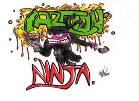 Cartoon Ninja by EmmanuelMadailArt