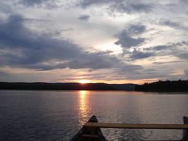 Sunset on the water by EmmanuelMadailArt