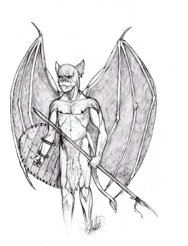 Bat Warrior by EmmanuelMadailArt