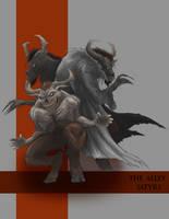 Alley Satyrs by EmmanuelMadailArt
