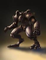 Alien Brute by EmmanuelMadailArt