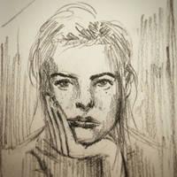 Face Sketch by EmmanuelMadailArt
