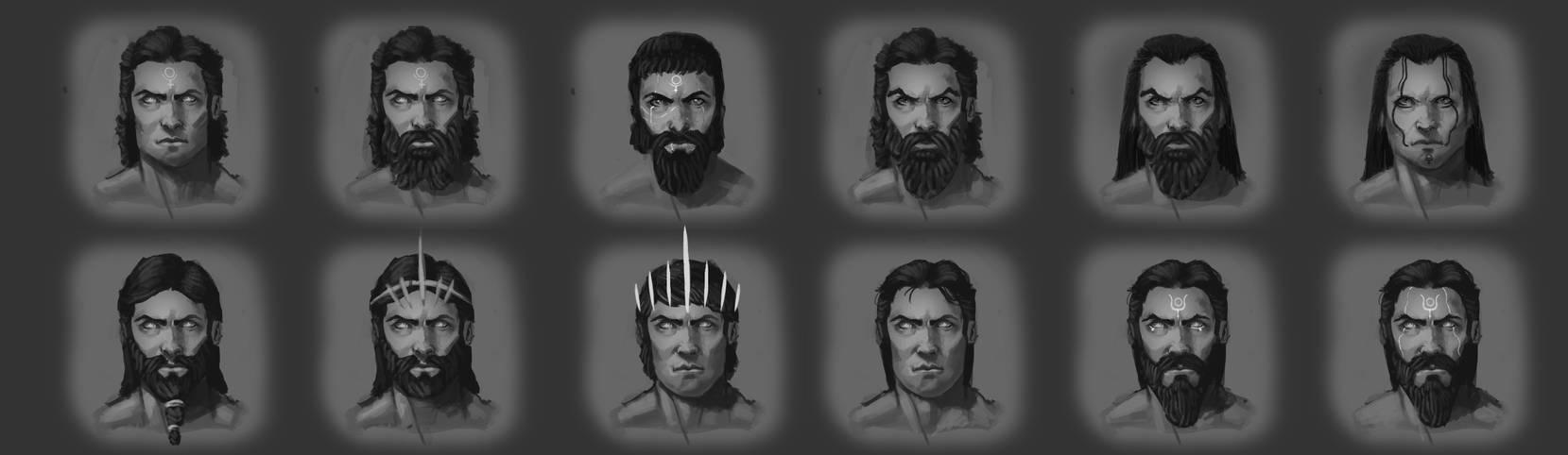 Hades Faces by EmmanuelMadailArt