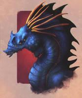 Ze Blue Dragon by EmmanuelMadailArt