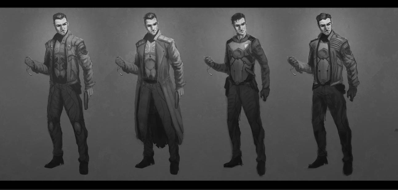 Ilias - Early Character Exploration by EmmanuelMadailArt