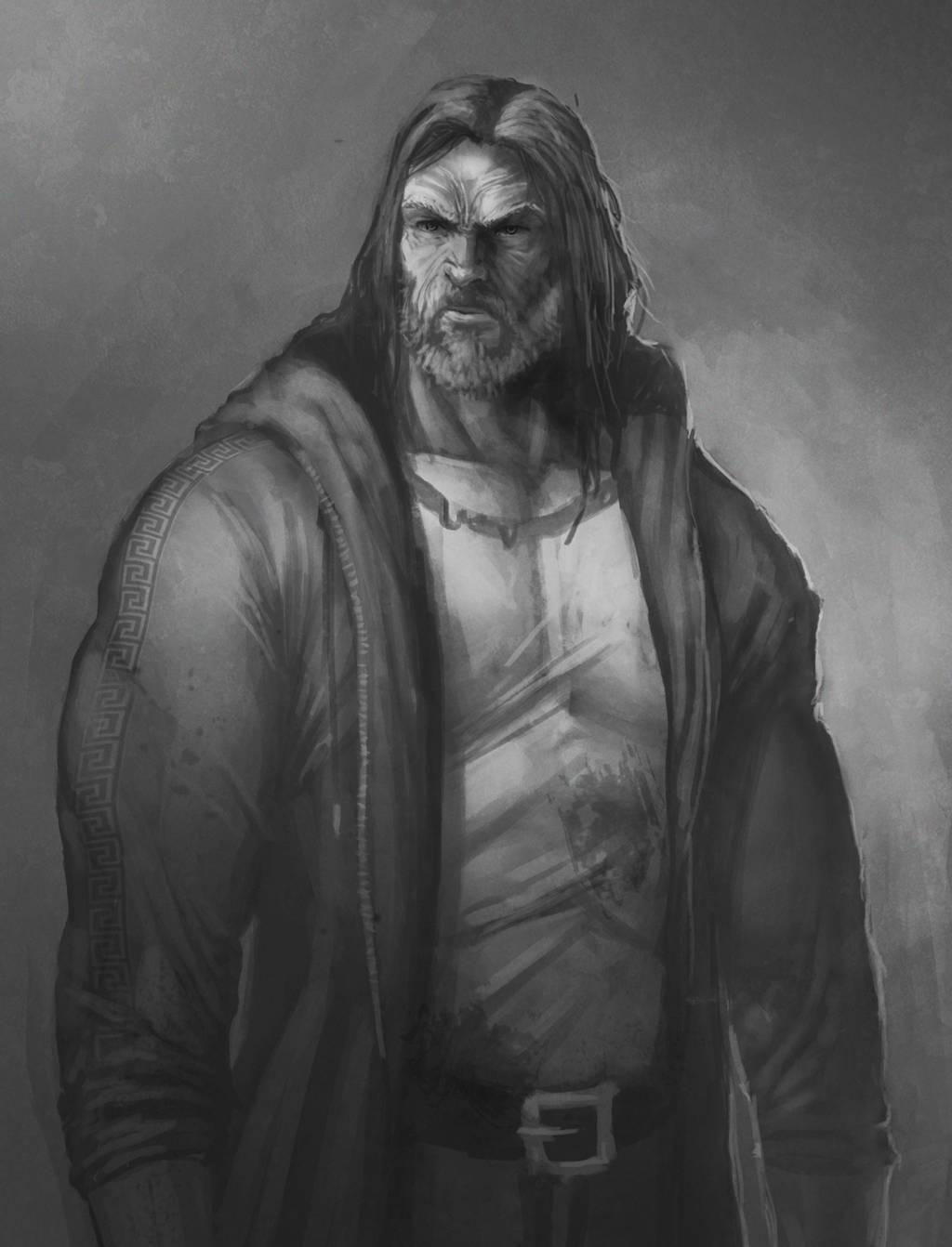 War of the Gods - Old Man Hercules by EmmanuelMadailArt