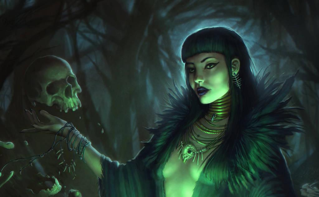 Swamp Witch - Close Up by EmmanuelMadailArt