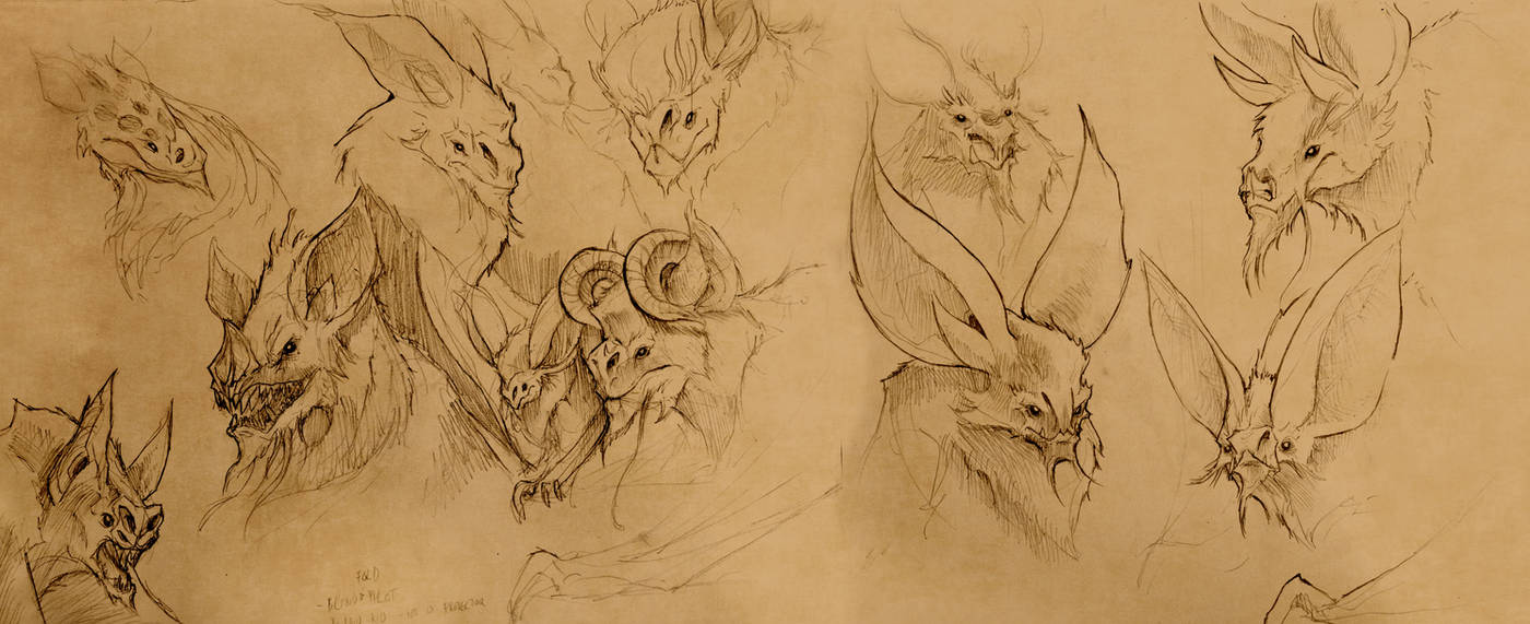 Bat Heads by EmmanuelMadailArt