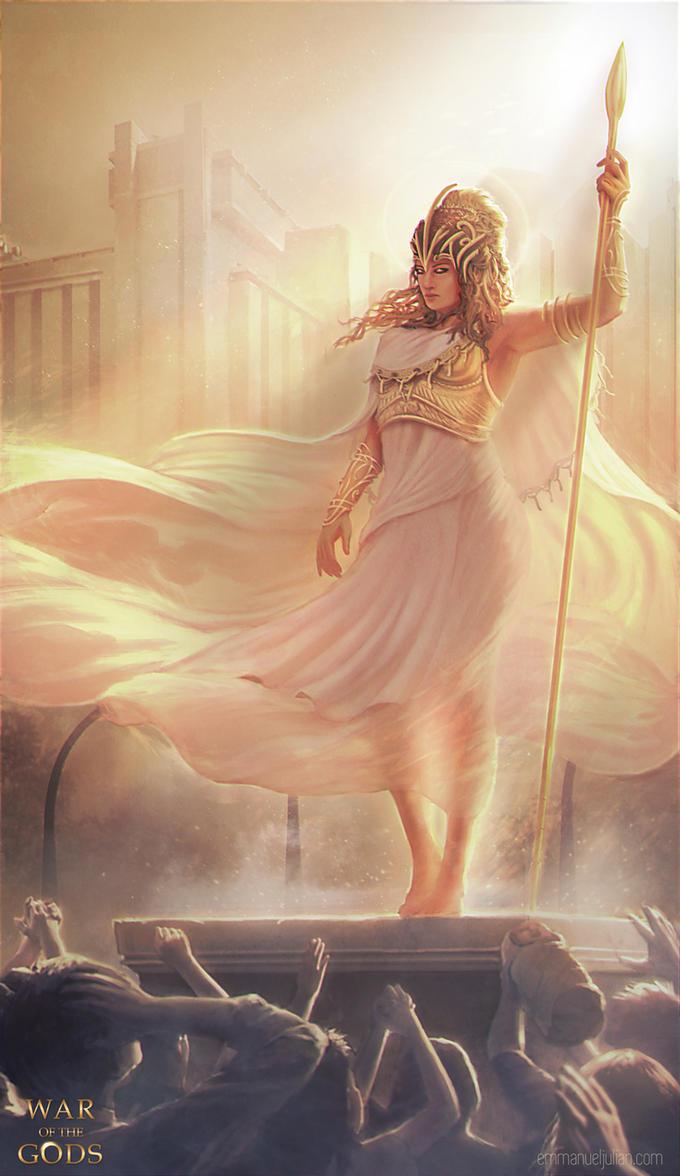 WAR OF THE GODS - Athena by EmmanuelMadailArt