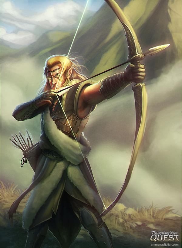 Elven Guard by EmmanuelMadailArt