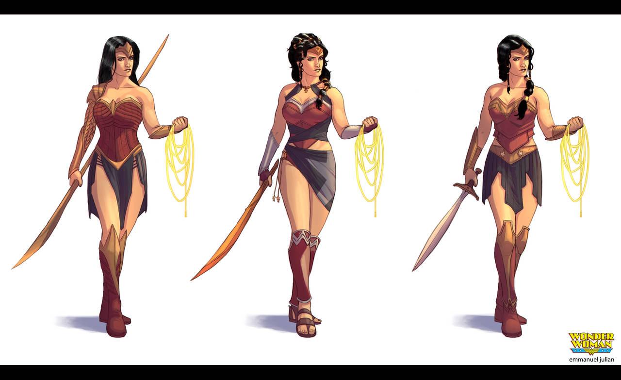 Wonder Woman Concetpts by EmmanuelMadailArt
