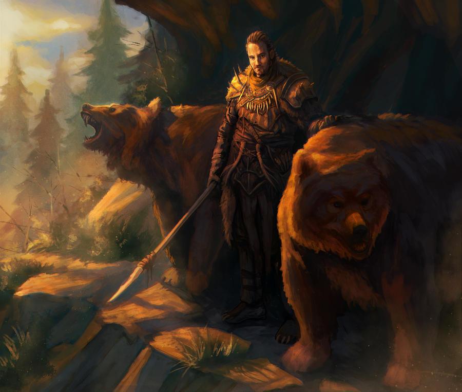 Bear Master by EmmanuelMadailArt