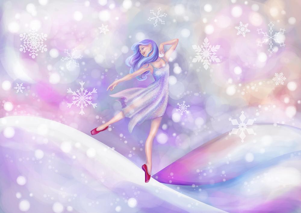 Winter Lavender Ballerina by SaraSheepy