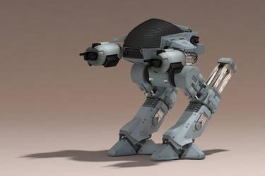 robocop ed209 by xterminatorx