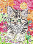 Bengal kitten  cat  watercolor  painting by tulipteardrops