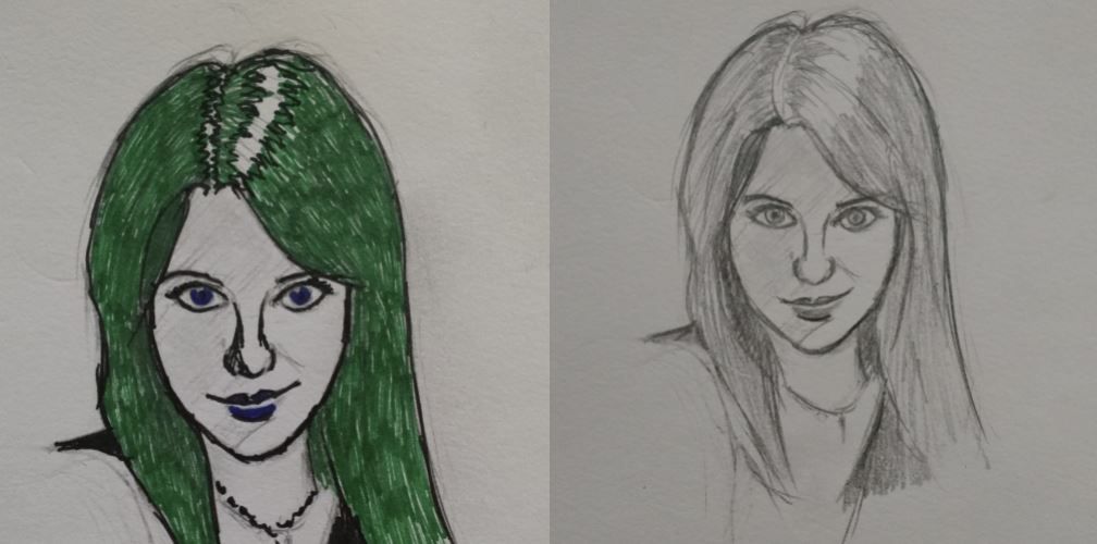 Post and Pre Inked Sketch by steveycee