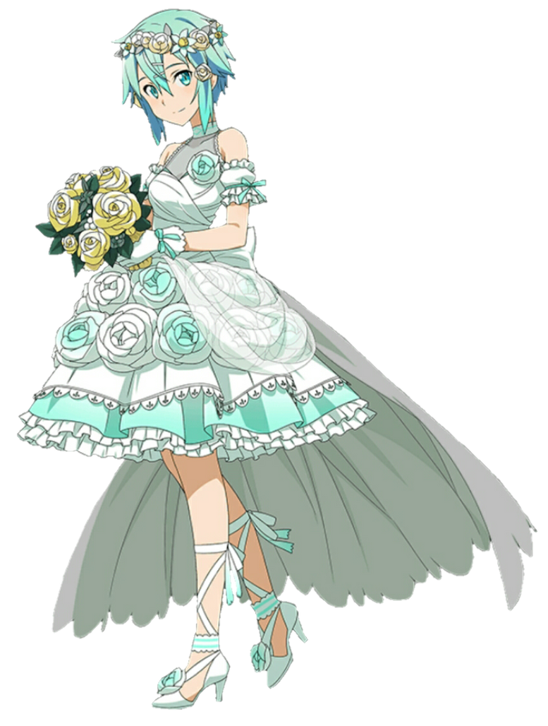 Bride sinon render by thegothamguardian on deviantart for Anime wedding dress up games