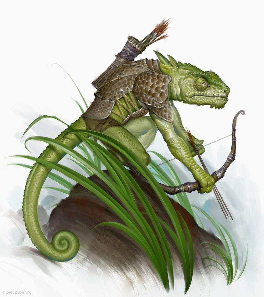 Notes Of The Wandering Alchemist: Re-Skinning: Lizardfolk