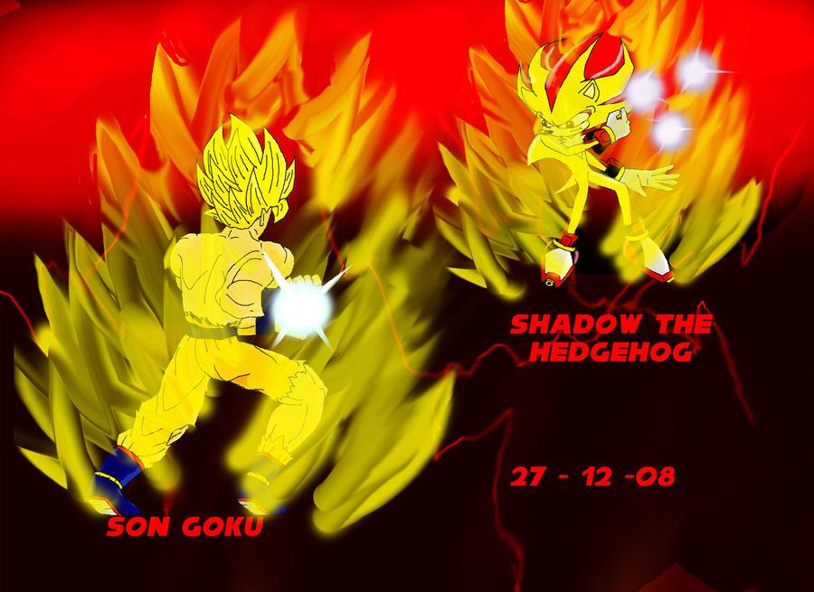 Goku vs Shadow by gamefreak2008