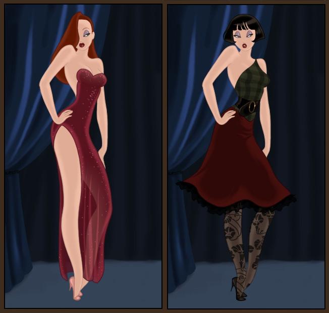 Dress up Jessica Rabbit by AzaleasDolls