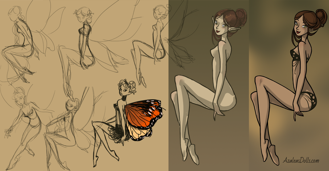 Working on New Fairy Dress up by AzaleasDolls
