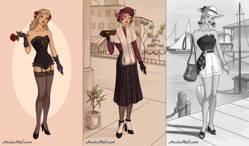 40s fashion dress up game by azaleasdolls on deviantart Fashion style games online